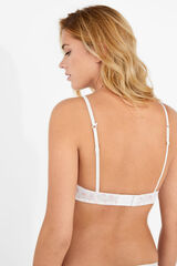 Womensecret Sujetador push up de algodón blanco