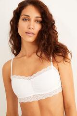Womensecret Top algodón orgánico blanco blanco