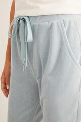 Womensecret Pantalón largo micropana azul verde