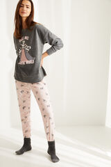 Womensecret Pijama manga larga Supernenas polar gris