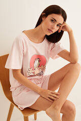 Womensecret Pijama corto Garfield rojo