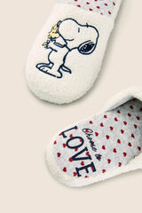 "Womensecret Zapatillas casa Snoopy ""Love"" blanco"
