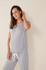 Womensecret Camiseta maternity rayas azul