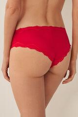 Womensecret Braguita brasileña ancha rojo