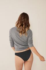 Womensecret Camiseta manga larga lisa  gris