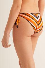 Womensecret Braga bikini reversible rayas y lisa rojo