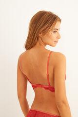 Womensecret Sujetador triangular encaje teja rojo
