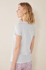 Womensecret Camiseta manga corta lisa algodón gris