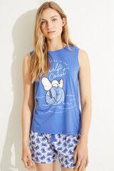 Womensecret Pijama corto tirantes Snoopy 100% algodón azul