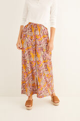 Womensecret Pantalón largo estampado ancho estampado