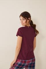 Womensecret T-shirt padeira manga curta rosa
