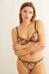 Womensecret Sujetador clásico bordado con espalda tiras estampado