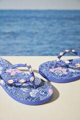 Womensecret Chinelos conchas azuis flores azul