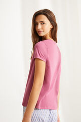 Womensecret Camiseta panadera algodón rosa rosa