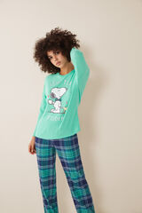 Womensecret Pijama largo Snoopy verde