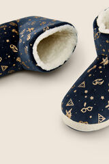 Womensecret Pantufas tipo botas Harry Potter azul
