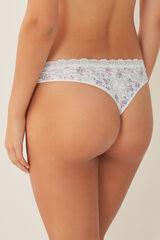 Womensecret Braguita brasileña algodón encaje beige
