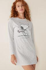 Womensecret Camisa de dormir curta Snoopy cinzento