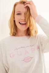 Womensecret Pijama comprido rosa algodão A Vizinha Loira cinzento