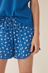 Womensecret Pijama corto flores azul