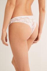Womensecret Braguita brasileña encaje blanco