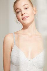 Womensecret Body tirantes algodón orgánico  gris
