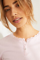 Womensecret Camiseta manga larga algodón rosa rosa