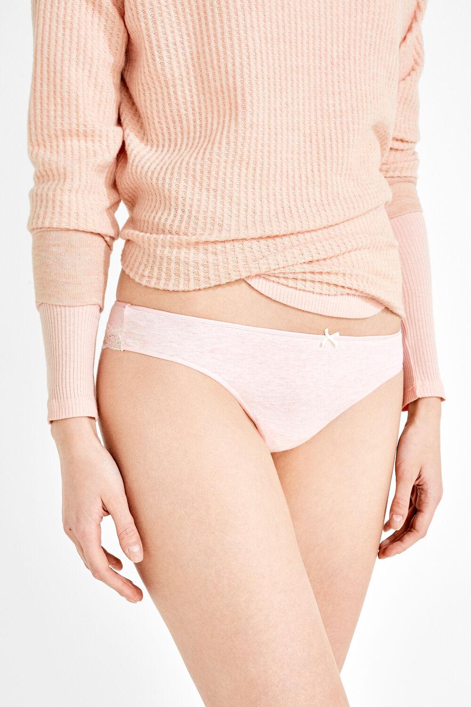 ed261a63aa Womensecret Braga brasileña de algodón y encaje rosa
