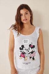 Womensecret Pijama corto Mickey y Minnie beige