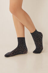 Womensecret Medias animal print negro