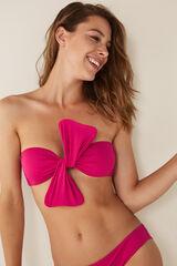 Womensecret Top biquíni bandeau laço rosa