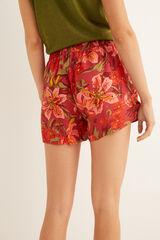 Womensecret Pantalón corto estampado marrón