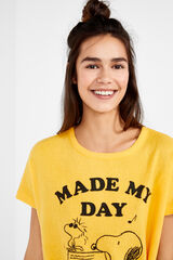 Womensecret Camiseta Snoopy 'Made my Day' estampado