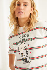 Womensecret Pijama manga larga algodón Snoopy beige