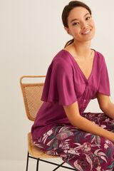 Womensecret Pijama pantalón capri rosa