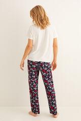 Womensecret Pijama largo Minnie flores beige