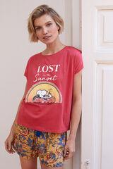 Womensecret Camiseta Snoopy rojo