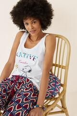 Womensecret Camiseta sin mangas Snoopy beige