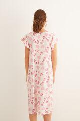 Womensecret Vestido midi estampado rosa