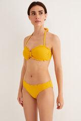 Womensecret Braga bikini detalle ondas amarillo