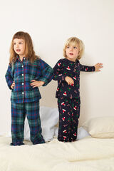 Womensecret Pijama comprido xadrez Meninos azul