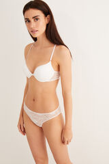 Womensecret Sujetador push up encaje blanco