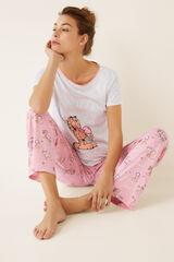 Womensecret Pijama largo helados Garfield  gris