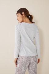 Womensecret Camiseta panadera gris