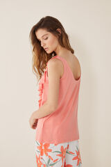 Womensecret Camiseta volantes lisa rosa