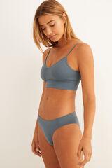 Womensecret Top liso azul sin costuras verde