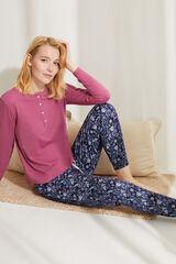 Womensecret Camisola manga comprida algodão rosa