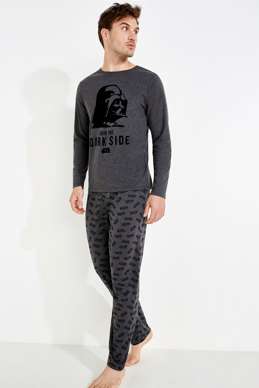 b1fe05ea3d Womensecret Pijama para hombre de algodón Star Wars gris