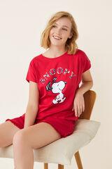 Womensecret Camiseta manga corta Snoopy rojo