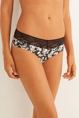 Womensecret Braguita culotte detalles encaje negro